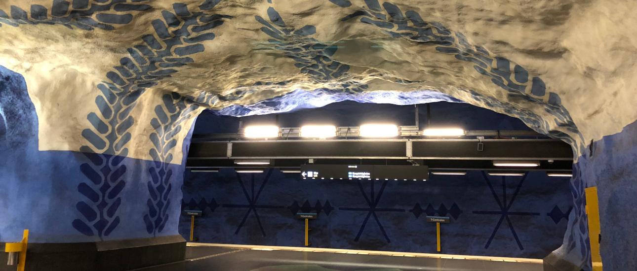Cosa vedere a Stoccolma: la Tunnelbana, la metropolitana di Stoccolma