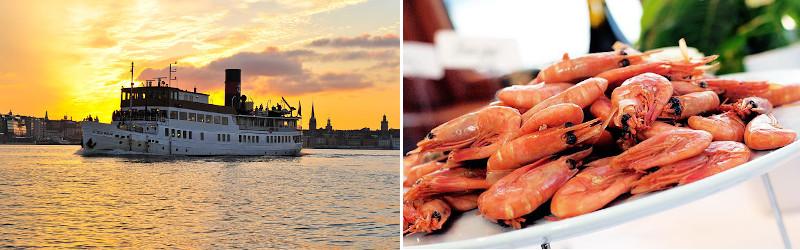cosa fare a Stoccolma, un giro in battello con cena al tramonto