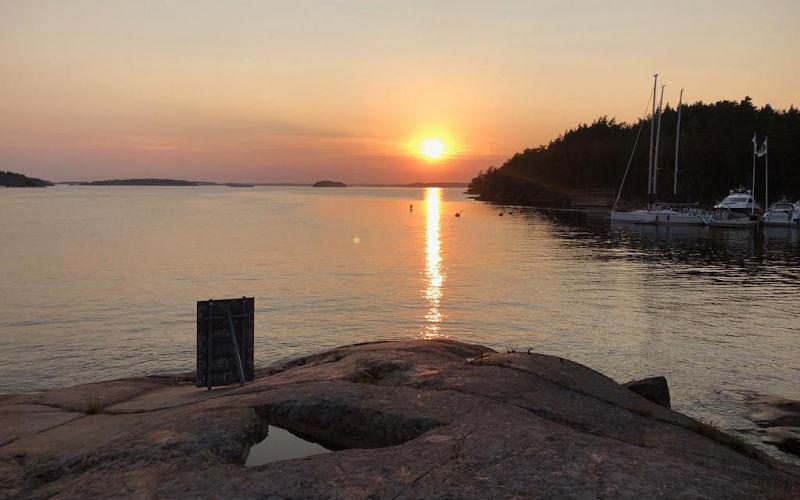 una gita nell'arcipelago di Stoccolma a Grinda