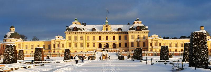 Una gita al palazzo di Drottningholm - d'inverno con la neve