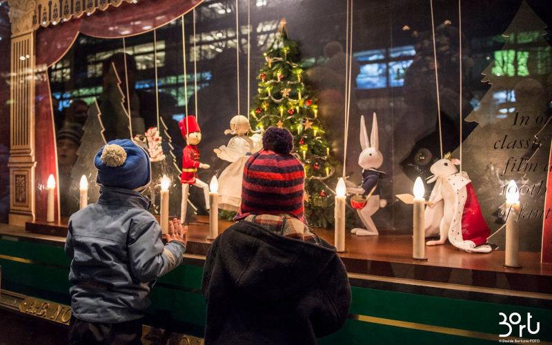 i mercatini di Natale a Stoccolma, le vetrine di Natale del NK