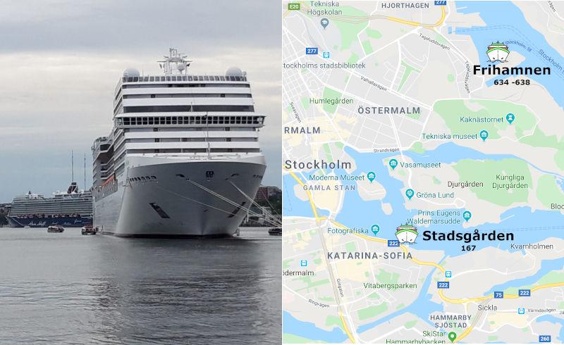cosa vedere in un giorno a Stoccolma per crocieristi - i porti a Stoccolma