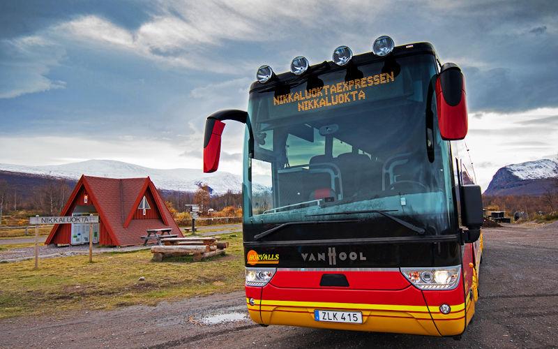 il Kungsleden - trekking in Lapponia - bus per Kiruna - nikkaluoktaexpressen
