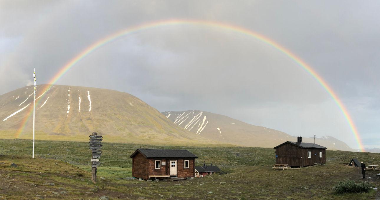 il kungsleden - trekking in Lapponia - l'arcobaleno a sälka