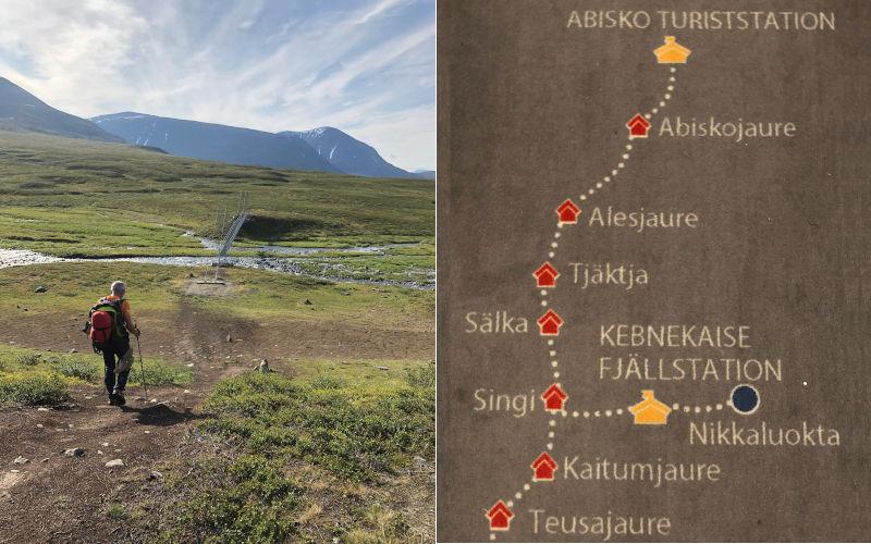 il Kungsleden - trekking in Lapponia - la mappa