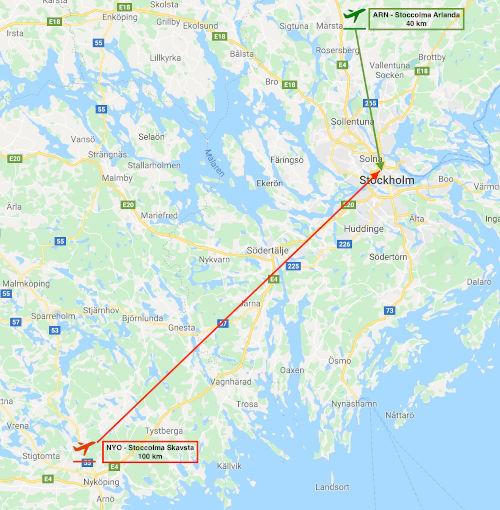 Come arrivare a Stoccolma dall'aeroporto di Arlanda e Skavsta - aeroporti di Skavsta e Arlanda
