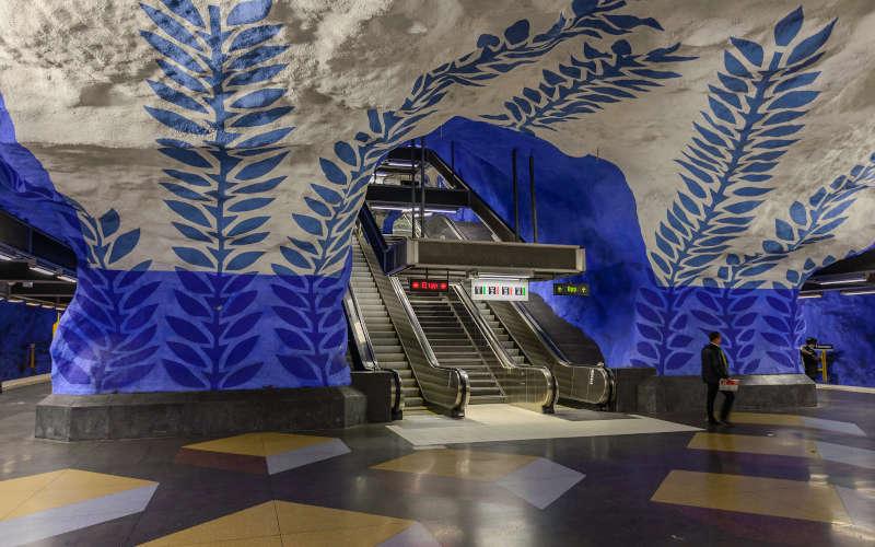 La tunnelbana di Stoccolma: la stazione di T-centralen