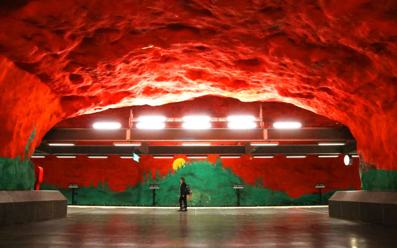 La Tunnelbana: solna centrum