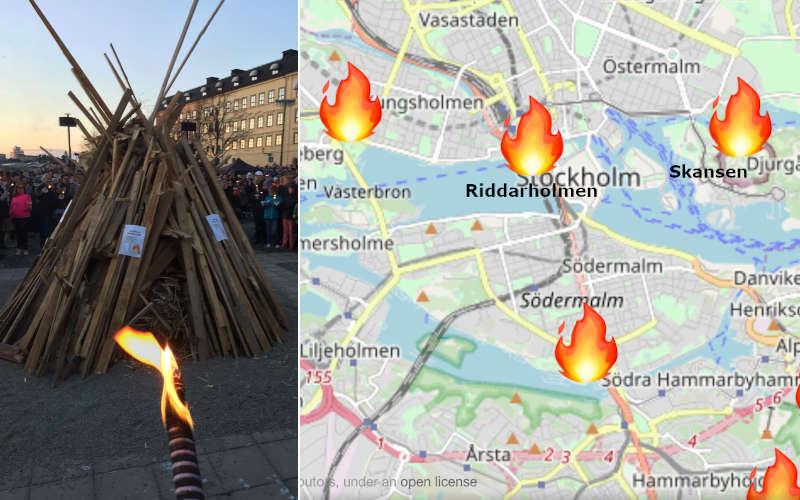 Cosa fare a Stoccolma il primo maggio: i falò di Valborg a Stoccolma