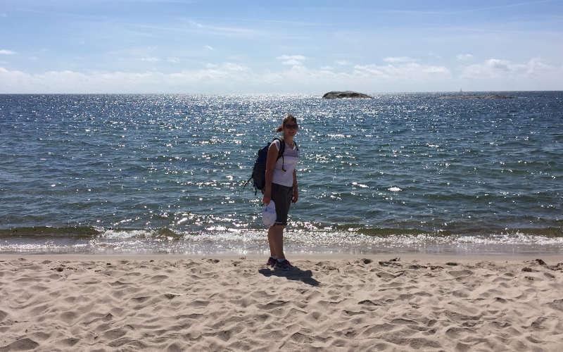 La spiaggia di Stora sand a Utö nell'arcipelago di Stoccolma