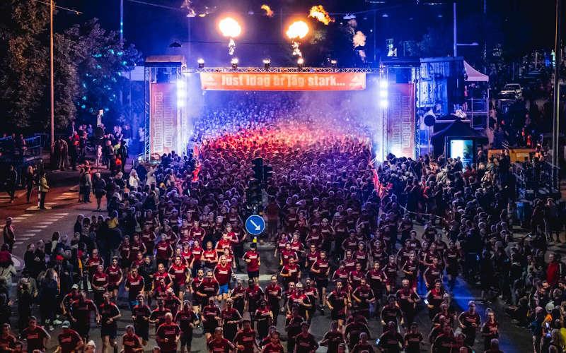midnattsloppet la corsa di notte a Stoccolma