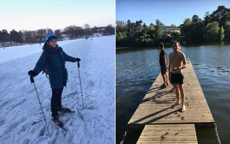 meteo a Stoccolma: il freddo e il caldo i due estremi