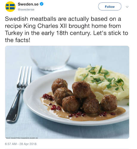 tweet polpette svedesi turche