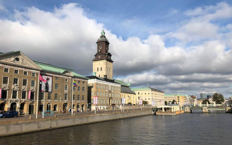 Panorama dalla chiesa tedesca di Göteborg